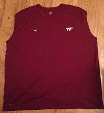 NEW Nike Dri-Fit Virginia Tech Hokies Mens Sleeveless Athletic Shirt *4XL*