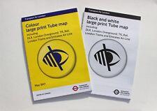 Set of 2 Large Print London Underground Tube Map Posters Colour & BlackWhite