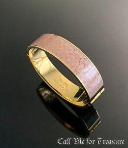 Coach wide hinged bangle Logo bracelet