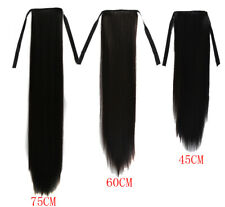 """18"""" 24"""" 30"""" Women Straight Synthetic Ponytail Ombre Pony Tail Hair Extensions"""