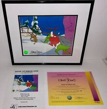 How The Grinch Stole Christmas Cel Stop Number One Signed Chuck Jones Animation