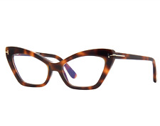 TOM FORD FT5643-B 052 Eyeglasses Havana Frame 55mm with 2X SUN CLIP-ONS