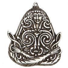 """Macha Celtic Goddess Pendant 2"""" NEW Pewter Morrigan Cauldron Amulet - US Made!"""