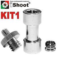 "1/4"" 3/8"" Tripod Screw Flash Mount Bracket Holder Camera Adapters Kit-1 UK"