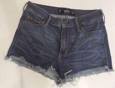 Juniors Hollister High Rise Blue Denim Shorts Size 5 or 27 Junior's