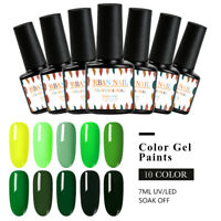 RBAN NAIL 7ML Nail Art Gel Polish Soak-off UV/LED Manicure Base Top Coat Varnish