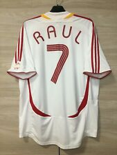 Spain Espana 2006-07 Raul #7 Away Football Soccer Adidas Shirt Jersey Rare sz XL