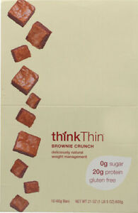 thinkThin by ThinkProducts, Brownie Crunch Box of 10