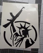 2nd Amendment Statue of Liberty with a gun Gun Control sticker decal