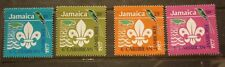 OLD BOY SCOUT GIRL GUIDE STAMP COLLECTION, 1977 JAMAICA JAMBOREE SET OF 4 MINT
