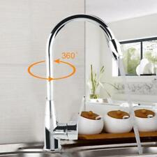 Rotating Single Handle Kitchen Faucet Sink Pull Out Sprayer Hot & Cold Water US