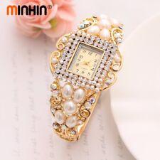 Noble Bangle Crystal Geneva Women Imitation Pear Wrist Dress Quartz Watches Lady