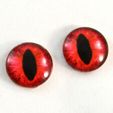 16mm Red Cat Glass Taxidermy Eyes