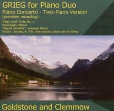 Goldstone & Clemmow Piano Duo, Edvard Grieg - Music for Piano Duo [New CD]