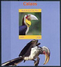 Mali 2018 MNH Hornbills 1v IMPF M/S Calaos Birds Bird Stamps