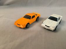 Hot Wheels '70's Camaro Z28 Neon Orange & White 1982 Minty Mint Lot of 2