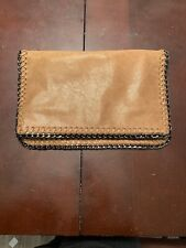 Soft Brown Leather Clutch