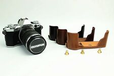 New Leather Bottom Case Bag Half Cover For Olympus OM-D E-M5 Mark II ( EM5II)