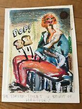 MAIL ART Blaster Al Ackerman 2 paintings envelopes correspondence 1983