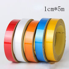 Wonderful Car Silver 1cm*5m Reflective Tape Sheeting Reflect Decal Stickers