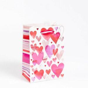 Papyrus Overlapping Hearts Glitter Embellished Medium Gift Bag