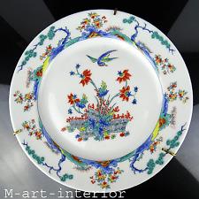 Alter Teller Chinoiserie Porzellan Sammlung Plate Limoges Porcelain Paris France