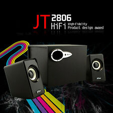 New powerful base Multimedia 2.1 Desktop PC Speaker System with Subwoofer