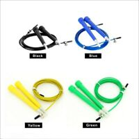 Skipping Jumping Rope Cable Steel Adjustable Speed ABS Handle Crossfit Training