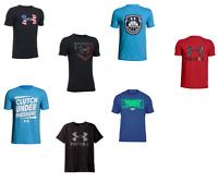 New Under Armour Big Boys Graphic Print T-Shirt SIZE S,M,L,XL MSRP:$24.99