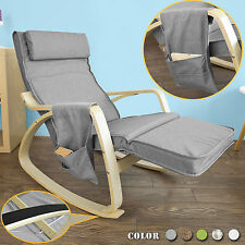 Sobuy Rocking Chair Fauteuil À bascule Berçante avec Repose-pieds Fst18-dg FR