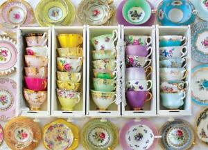 Eurographics Colourful Tea Cups Jigsaw Puzzle (1000 Pieces)