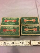 2 Remington-Umc .22Long And 2 .22 Short R.F. Empty Boxes