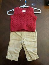 Newborn Boy's Sweater Vest Outfit by Baby Cat & Jack, Size Newborn