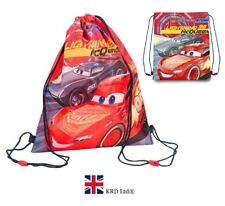DISNEY CARS GYM BAG Drawstring School PE Sports Swim Kids Girls Birthday Gift UK