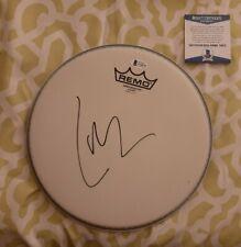 Lars Ulrich of Metallica signed 10 inch Remo Drumhead Beckett BAS COA #Y30979