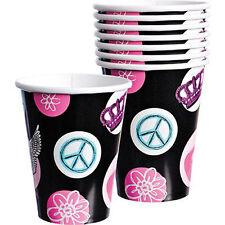 PRINCESS ROCKER 9oz PAPER CUPS (8) ~ Birthday Party Supplies Beverage Drinking