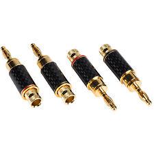 Nine Tine Banana Plug with Dual Set Screws and Carbon Fiber