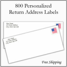 New Listing800 Personalized Return Address Labels Printed Custom 12 Inch X 1 34 Inch