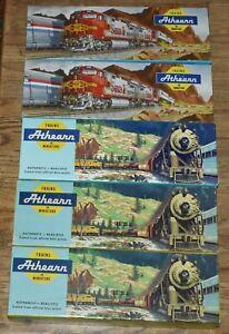 5 Athearn Empty Train Boxes - 10 12 x 3 3/4 x 1 1/2 for AT&SF Santa Fe Passenger