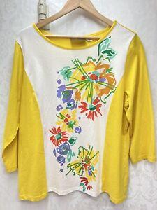 Ladies Bob Mackie Wearable Art T Shirt XL Floral New