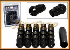 MONSTER SPLINE SR35 WHEEL LUG NUTS 12X1.5 M12 1.5 ACORN RIMS OPEN END 20 BLACK L