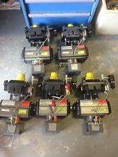Lot of 5ea. New Flowserve Pneumatic Actuator wt/ Westlock positioner