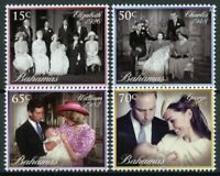 Bahamas Royalty Stamps 2014 MNH Christening Prince George William Diana 4 Set