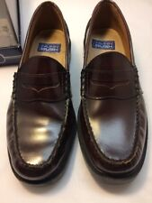 Nunn Bush Lincoln Burgundy Loafers Slip-On Shoes Leather Size 9M