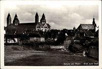 Speyer Rhein Rheinland Pfalz s/w AK ~1940 Blick zum Dom Teilansicht ungelaufen