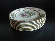 "Indian Tree Salad Plates x 8 Cauldon Potteries Allertons Ltd 8"" 20 cm c.1920s"
