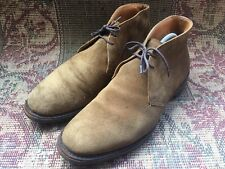 Men's Church's Ryder Lace Up Ankle Chukka Boots Brown Suede Size Uk 10 || USA 11