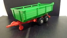 Bruder Large Plastic Red and Green Farm Trailer