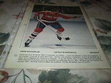 PIERRE BOUCHARD  POSTER COLOR 8 BY 11 DIMANCHE DERNIERE HEURE 1980 WASHINGTON