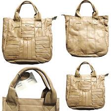 Ladies Designer Lorenz Large Genuine Fawn Leather Shoulder Bag Satchel Handbag